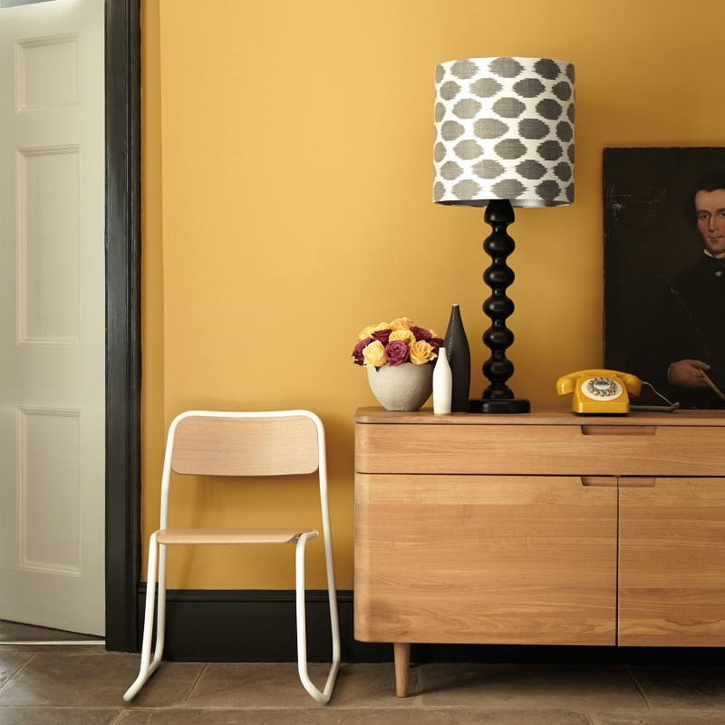 Yellow pink 46 peinture little greene - Pinke wand ideen ...