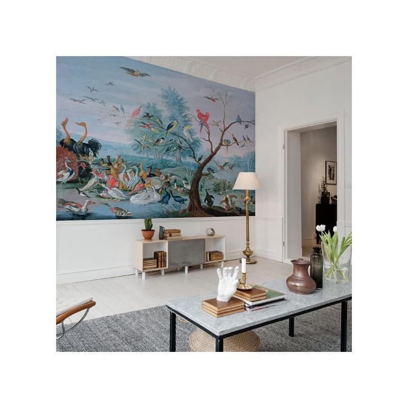 tropical birds papier peint au fil des couleurs. Black Bedroom Furniture Sets. Home Design Ideas
