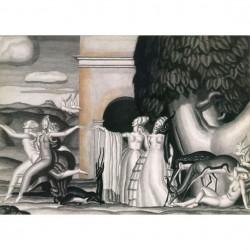 Panneau Le Jardin des Délices • Papier Peint • AU FIL DES COULEURS • AZURA