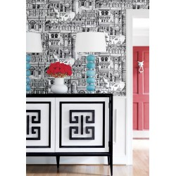Palazzo Black and White-T35172 • Papier Peint • THIBAUT • AZURA