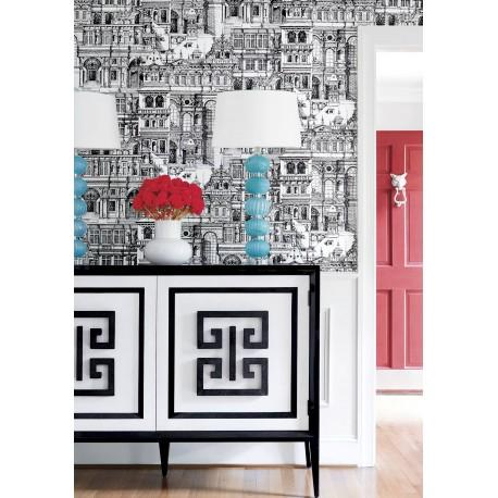 Palazzo Black and White-T35172 • Papier Peint • THIBAUT • AZURA