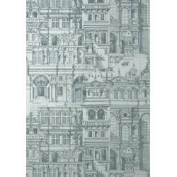 Palazzo Metallic Silver-T35173 • Wallpaper • THIBAUT • AZURA