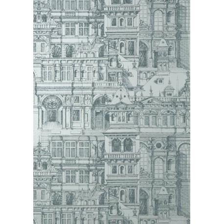 Palazzo Metallic Silver-T35173 • Papier Peint • THIBAUT • AZURA