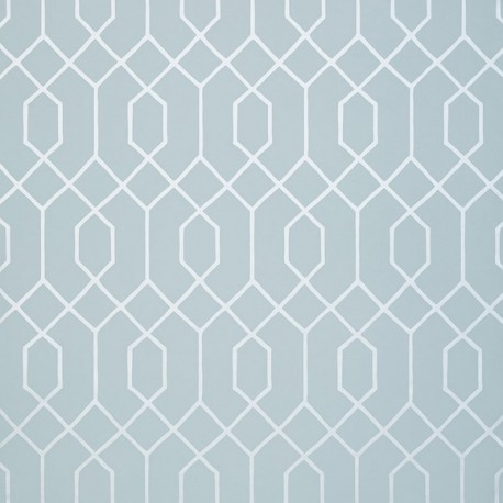La Farge Metallic Silver on Blue-T35201 • Wallpaper • THIBAUT • AZURA