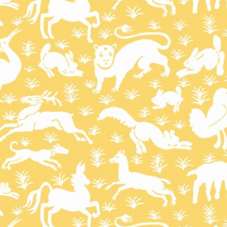 Nairobi Yellow-T13071 • Wallpaper • THIBAUT • AZURA