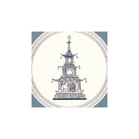 Oriental Toile Blue-T9748 • Papier Peint • THIBAUT • AZURA