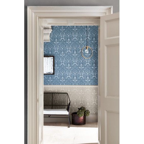 Albemarle St - Astral & Vapour • Wallpaper • LITTLE GREENE • AZURA