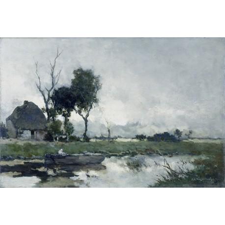 Panneau Autumn Lake • Papier Peint • AU FIL DES COULEURS • AZURA
