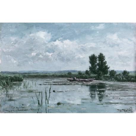 Panneau Morning Lake • Papier Peint • AU FIL DES COULEURS • AZURA