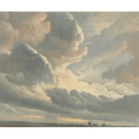 Sunset Clouds Panel • Wallpaper • AU FIL DES COULEURS • AZURA