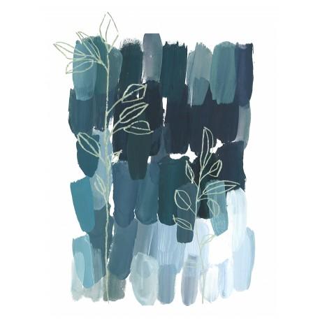 Panneau La Forêt • Papier Peint • AU FIL DES COULEURS • AZURA