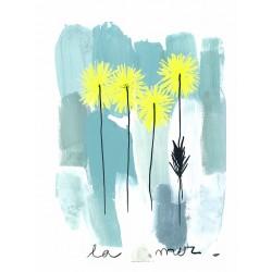 Panneau La Mer • Papier Peint • AU FIL DES COULEURS • AZURA