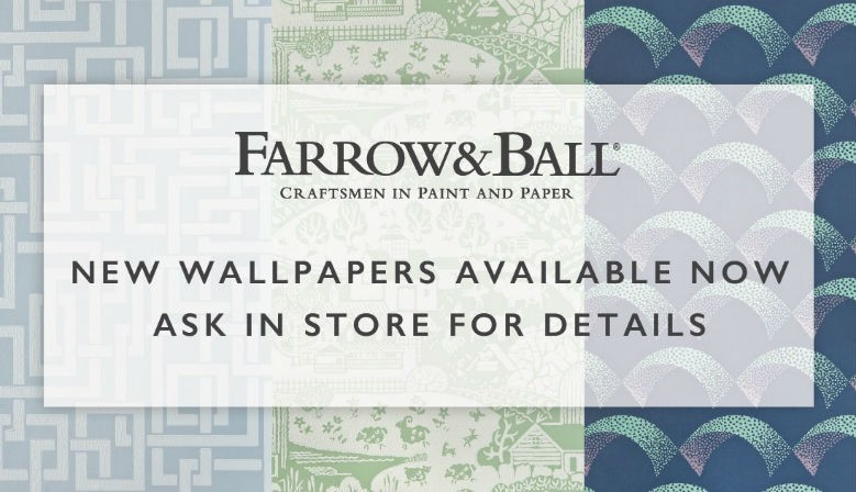 New wallpapers collection - Farrow & Ball - Arcade, Enigma, Gable
