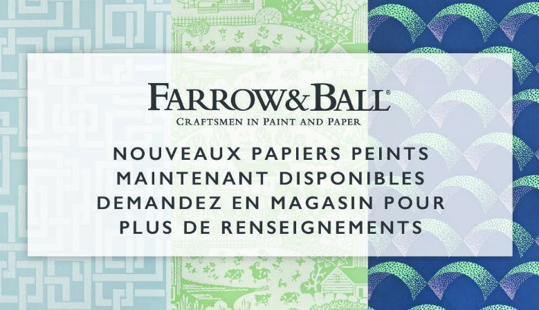 Nouvelle collection papier peint Farrow & Ball : Arcade, Enigma, Gable
