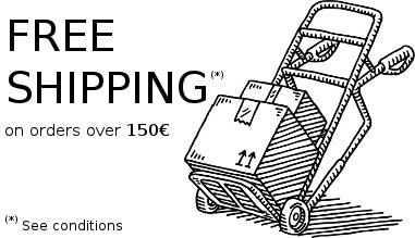 Free shipping for orders over 150€